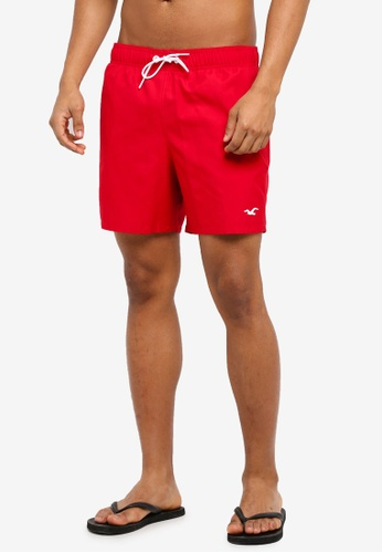 Hollister red Core Guard Shorts 87534USC491585GS_1