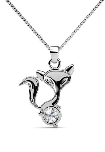 Her Jewellery silver Fox Pendant - Licensed Genuine Crystals from Swarovski® HE581AC0RVS9MY_1