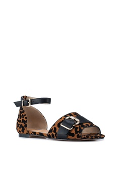 3f799f35cd85 40% OFF River Island Leopard Print Peep Toe Flats RM 199.00 NOW RM 118.90  Sizes 3 4 5 6 8