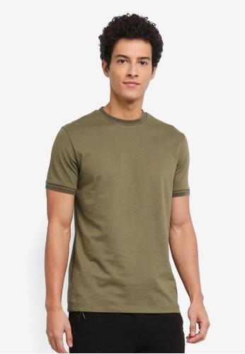 Topman green Muscle Ringer T-Shirt 3199EAAD849202GS_1