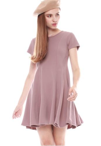 JOVET pink Panel Dress 038B9AA1AF2221GS_1