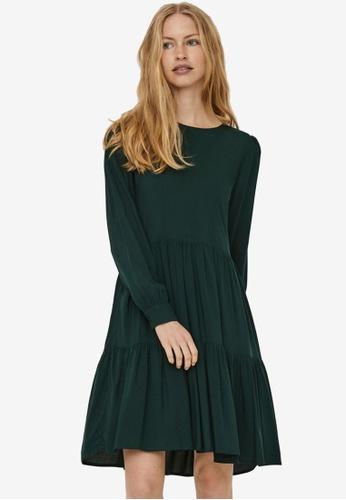 Vero Moda green Nads Long Sleeve Girlie Dress 73484AA18ADC95GS_1