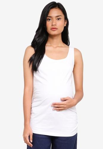 JoJo Maman Bébé white Maternity Secret Support Vest 54382AAB8DFFA1GS_1
