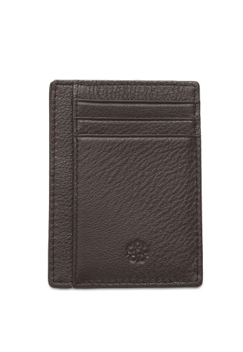 Wild Channel brown Leather Card Holder CD0F3AC44FFF18GS_1