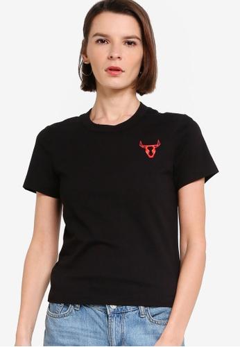 ck Calvin Klein black LIGHTWEIGHT ORGANIC COTTON TOP WITH LOGO 0B19BAAF2046D7GS_1