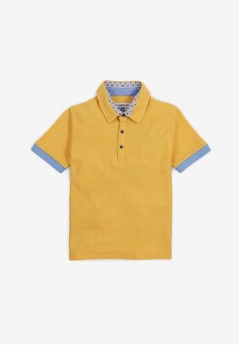Gingersnaps yellow Boys Collar Combi Polo D7B40KAC302410GS_1