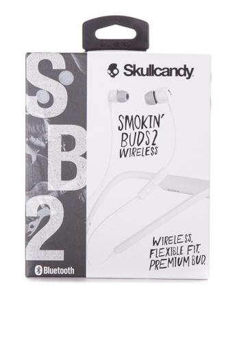 SkullCandy white Smokin' Buds 2 Earphones SK811AC90SIVPH_1