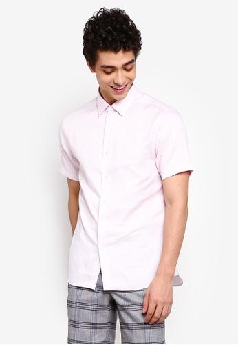 Topman 粉紅色 短袖襯衫 1CE1DAA70F7FABGS_1