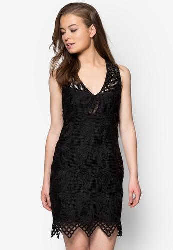 Deco 蕾絲zalora 手錶 評價貼身洋裝, 服飾, 派對洋裝