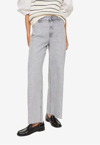 Mango 灰色 High Waist Culotte Jeans 7964DAA92505BEGS_1