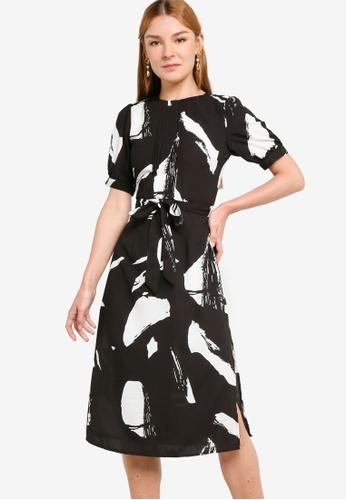 ZALORA WORK multi Puff Sleeves Dress with Pintucks 5A019AA00CD060GS_1