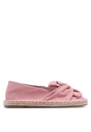 Dorothy Perkins 粉紅色 扭結草編懶人鞋 2DD6ASH0F88324GS_1