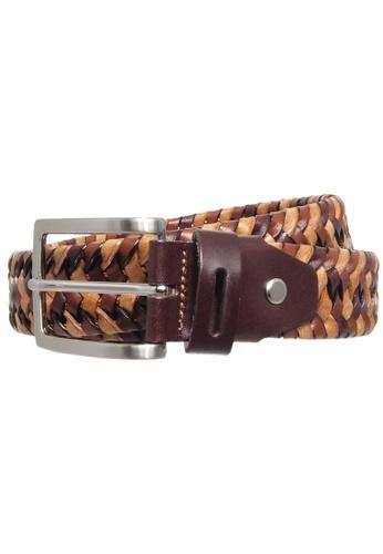 72 SMALLDIVE brown 34 mm Tri-Color Elastic Weave Belt Brown 3FBBDACAB297E5GS_1