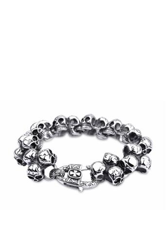 HAPPY FRIDAYS Skull Titanium Steel Bracelet KL29676 4AB01ACFCD04ACGS_1