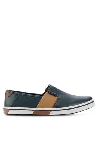 Spotec navy Stripe Point Sneaker Shoes SP567SH87GFSID_1