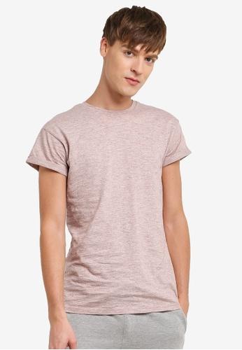 Topman 橘色 Rust Slub Muscle Roller T-Shirt TO413AA0RUWUMY_1