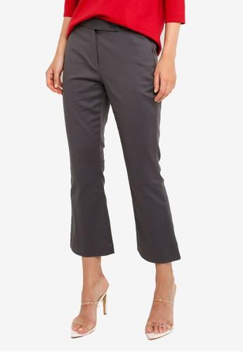 G2000 grey Boot Leg Double Weave Pants 56829AA0F42EBDGS_1