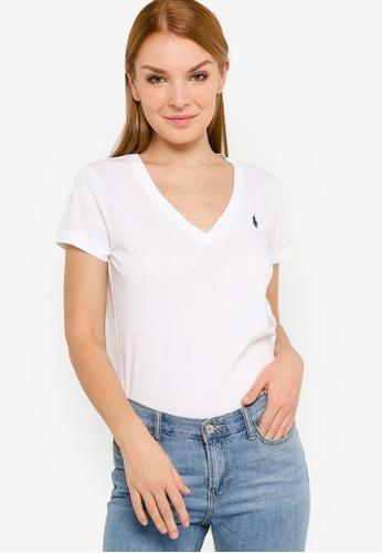Polo Ralph Lauren 白色 V領 短袖 T-襯衫 49557AAF582A13GS_1