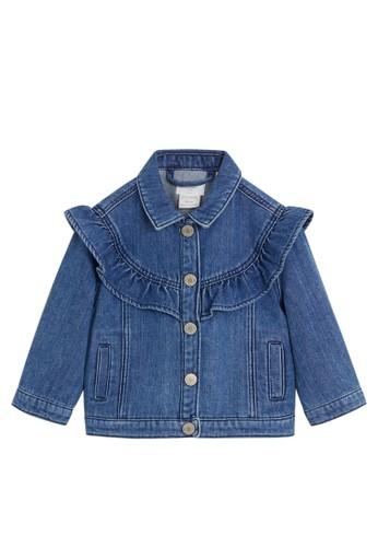 MANGO BABY blue Ruffled Denim Jacket 7E7BDKAF6E66C9GS_1