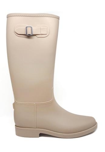 Twenty Eight Shoes beige Knee-High Rain Boots MM21B D068ESH189447CGS_1