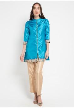 Ach Collection Source · 168 Collection Atasan Blouse Savyana Kemeja Tunik Jeans Biru Muda Source Atasan