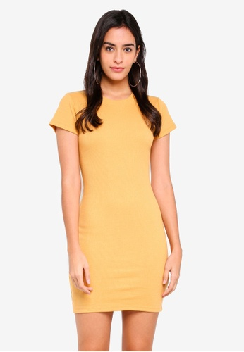 Supre yellow Rib T-Shirt Dress A3834AAD33FE92GS_1