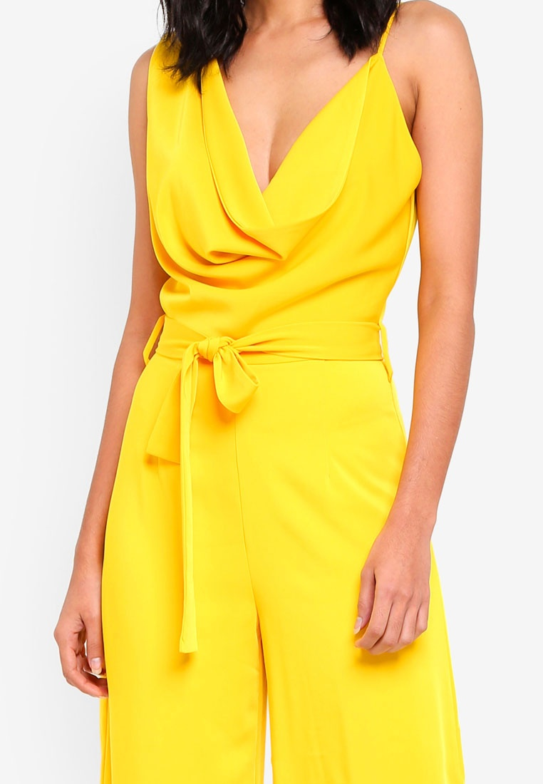 Culotte Lavish Neck Yellow Cowl Jumpsuit Alice C1wCxf