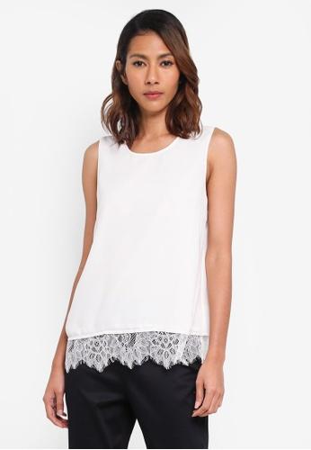 Vero Moda white Ellie S/l Top Sb4 35025AA5930BC4GS_1
