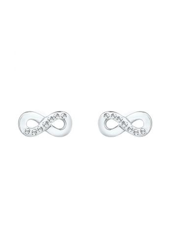 ELLI GERMANY silver Earrings Infinity Crystal EL474AC0S1ZRMY_1
