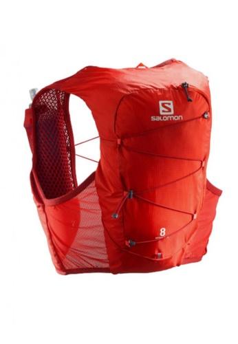 Salomon red Salomon Unisex Trail Running Active Skin 8 Set Backpack Valiant Poppy / Red Dahlia - 8L AEF11AC2AD0F47GS_1