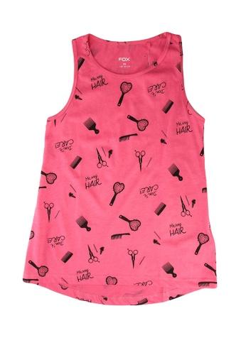 FOX Kids & Baby pink Kids Girl All Over Print Tank Top D83C6KAE6ECF63GS_1
