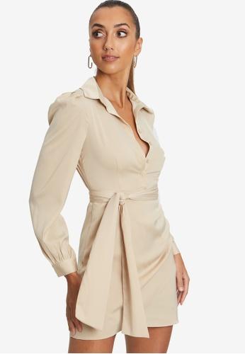 BWLDR beige Kay Dress 6CA70AAA6C22D0GS_1