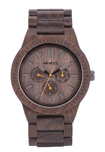 WEWOOD brown Kappa Chocolate Watch 46mm A6E75AC5707E4BGS_1