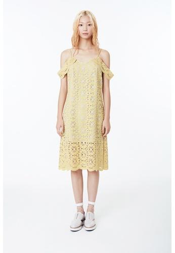 EJnolee yellow Yellow Lace Slip Dress EJ188AA0FIGTSG_1