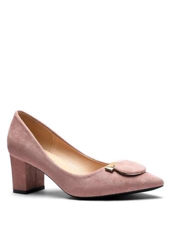 Twenty Eight Shoes 粉紅色 6.5CM 尖頭仿皮低踭鞋1308-57 C6161SH04CFF2CGS_1
