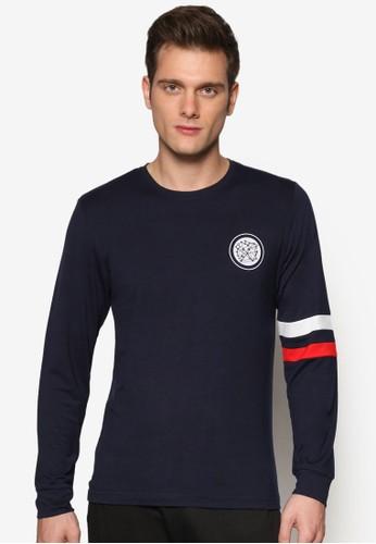 Space Age 條紋圖長袖Tesprit 品牌EE, 服飾, 長袖T恤
