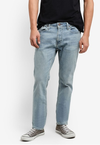 Hollister 藍色 窄管牛仔褲 HO422AA65INQMY_1