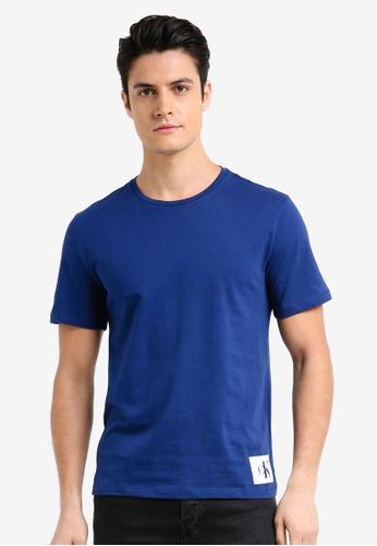 Calvin Klein blue A-Takoda Regular Short Sleeve Crew Neck Tee - Calvin Klein Jeans FF721AAAE123C0GS_1
