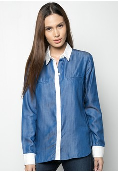 Denim Shirt With Cont