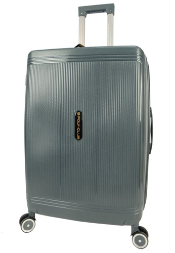 Poly-Club grey Poly-Club 24inch Unbreakable PP Hard Case Trolley Travel Luggage with Anti-theft Zipper- BA9924 Grey 3B17DAC05FB61FGS_1
