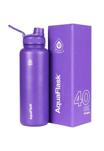 Aquaflask purple 40oz Wide Mouth Water Bottle B82F8ACE2F2209GS_1
