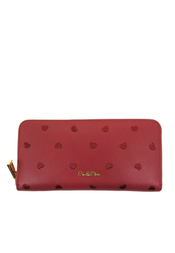 Carlo Rino red Carlo Rino Maroon Love All Around Zip-around Wallet 8632CAC0A94C45GS_1