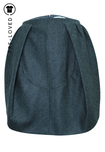 Carven grey Pre-Loved carven Wool Skirt 7113CAA5ED6ACFGS_1