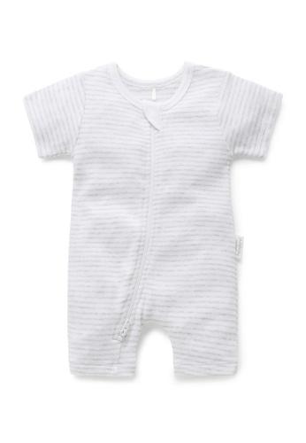 Purebaby grey Short Leg Zip Growsuit 6FBD0KA38776ECGS_1
