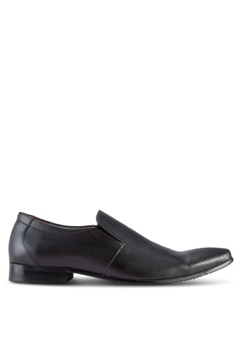 Frank Williams black Leather Dress Shoes FR169SH42KGVMY_1