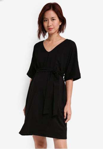 JoJo Maman Bébé black Maternity Simple Tunic Dress 89183AA6AC1F9DGS_1