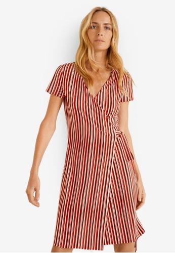 ef2453ec4e1 Shop Mango Bow Wrap Dress Online on ZALORA Philippines