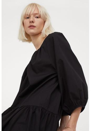 H&M black Airy cotton dress 66E52AAD1B2A96GS_1