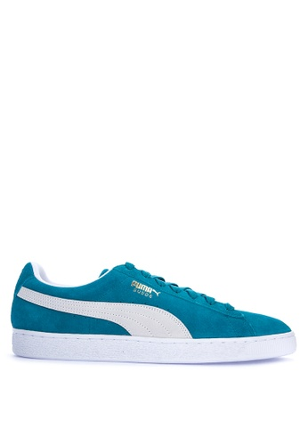 Puma blue Suede Classic Lace-up Sneakers 057B5SH59A649FGS_1