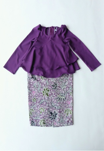 LITTLE TATARA purple The Seroja - Kurung Peplum Purple 6600AKAEEA755AGS_1